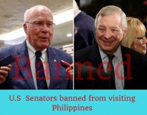 U.S Senators banned from visiting Philippines