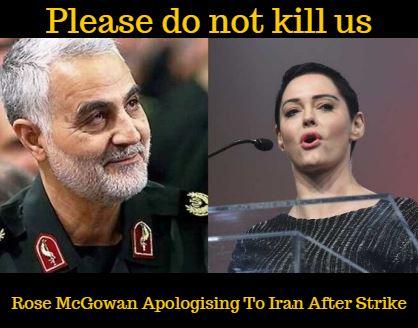 Rose McGowan Apologising To Iran After Strike