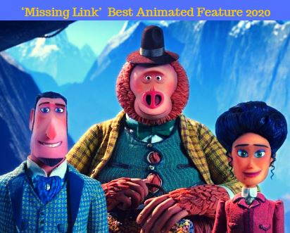'MISSING LINK' WINS BEST ANIMATED FEATURE AT GOLDEN GLOBES