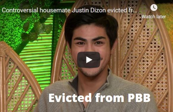 Justin Dizon Evicted from Pinoy Big Brother